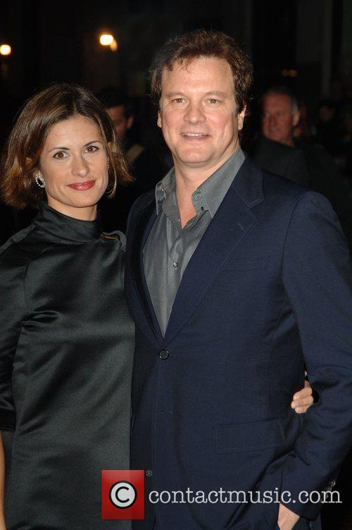 Colin Firth and wife Livia Guigglioli The Times...
