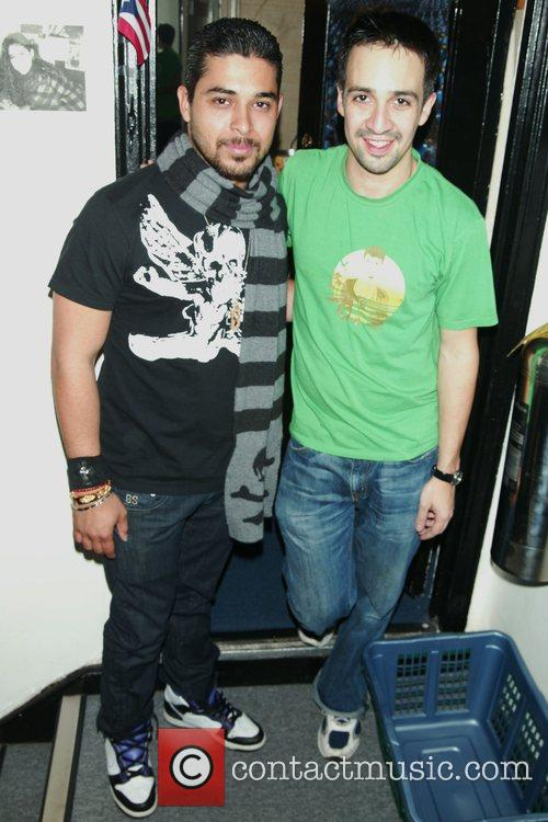 Wilmer Valderrama meets Lin-Manuel Miranda backstage of the...
