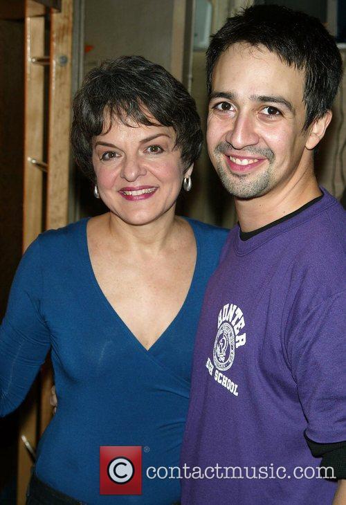 Cast members Priscilla Lopez and Lin-Manuel Miranda of...