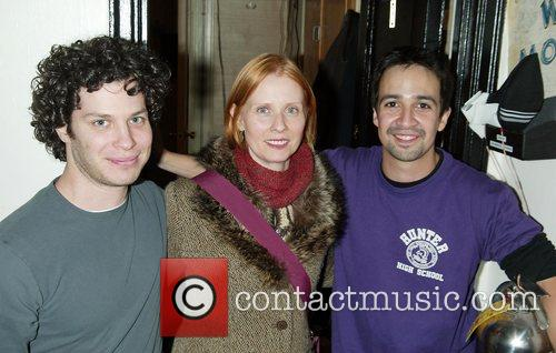 Cynthia Nixon with Director Tom Kail and cast...