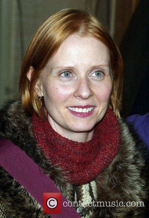 Cynthia Nixon arriving to see the new Broadway...