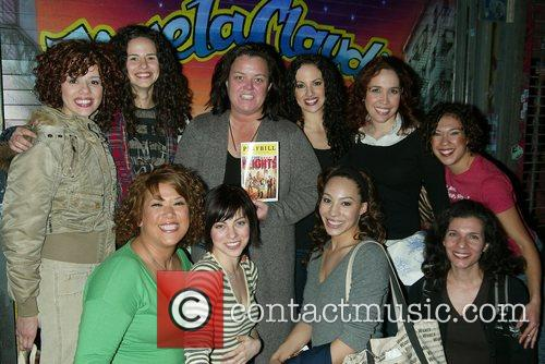 Celebrities backstage at the Broadway musical 'In The...