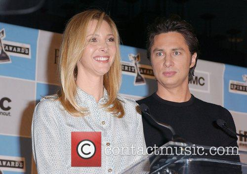 Lisa Kudrow and Zach Braff at the announcement...