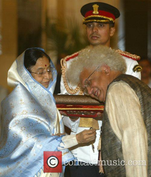 Lord Meghnad receives the Padma Shri from Indian...