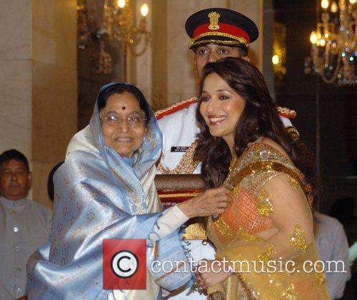 Madhuri Dixit Nene receives the Padma Shri from...