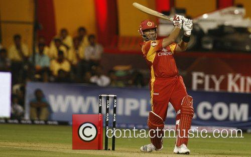 Bangalore Royal Challengers Jacques Kallis plays a shot