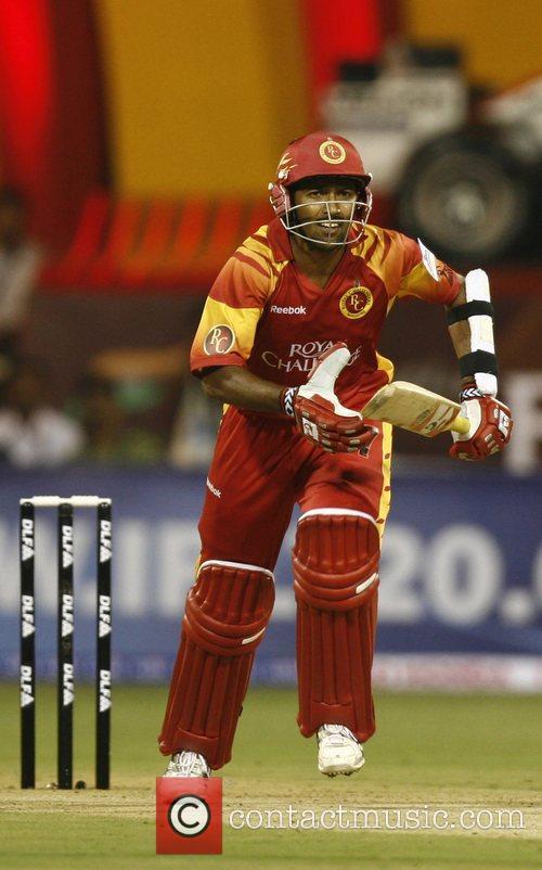 Bangalore Royal Challengers Wasim Jaffer takes a run...