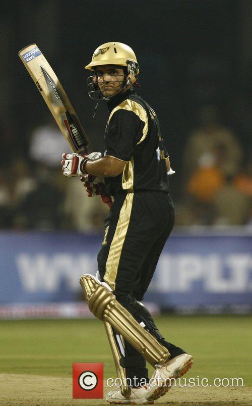 Kolkata Knight Riders captiain Sourav Ganguly looks on...