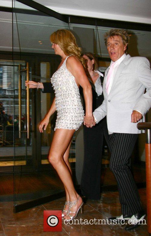 Penny Lancaster and Rod Stewart Summer Party held...
