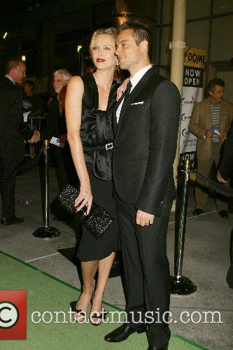 Charlize Theron and Stuart Townsend Los Angeles premiere...