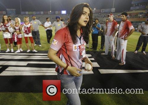 Bollywood actress and co-owner of Kings XI Punjab,...