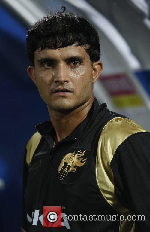 Kolkata Knight Riders captain Sourav Ganguly during the...