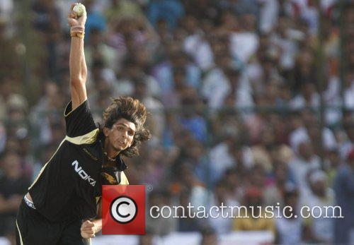Kolkata Knight Riders Ishant Sharma bowls to Rajasthan...