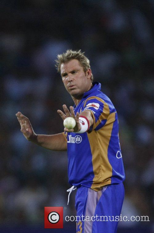 Rajasthan Royals' captain Shane Warne during the match...