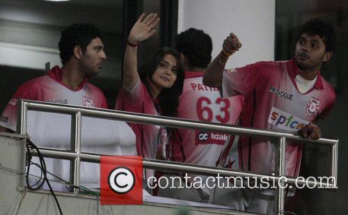 Bollywood actress and co owner Kings XI Punjab...