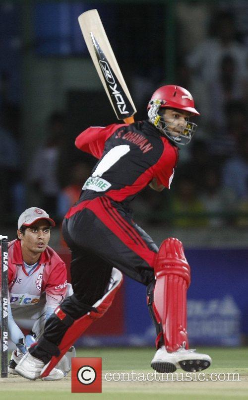 Delhi Daredevils Shikhar Dhawan plays a shot...