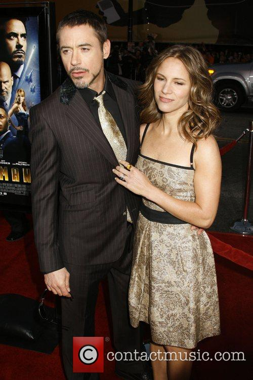 Robert Downey Jr and wife Susan Downey Los...