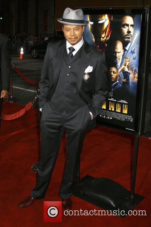Terrence Howard Los Angeles Premiere of 'Iron Man'...