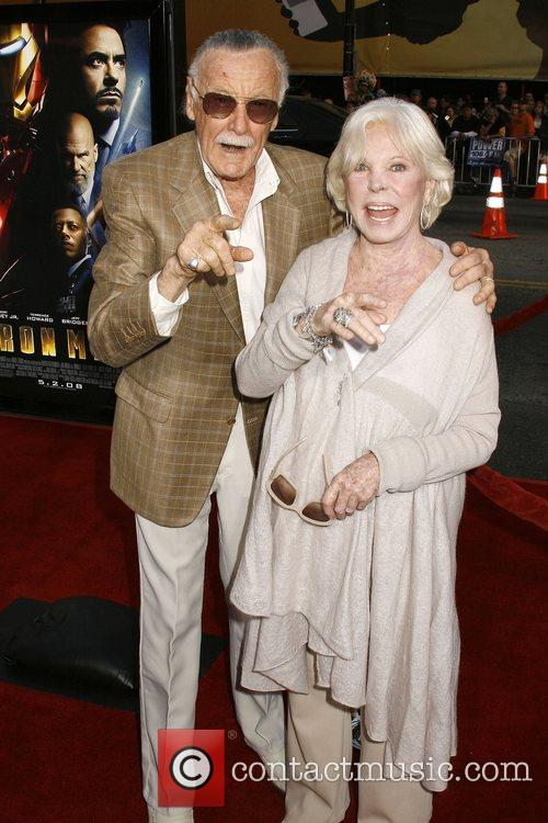 Stan Lee and guest Los Angeles Premiere of...