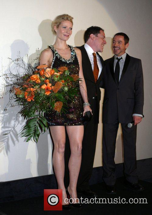 Gwyneth Paltrow, Jon Favreau, Robert Downey Jr. German...