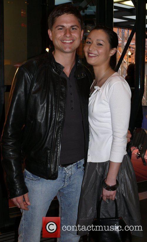 Matthias Dietrich, girlfriend Verena Schilling German premiere of...