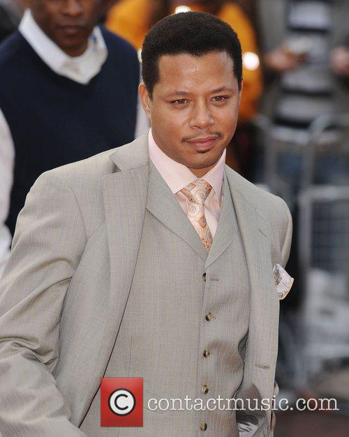 Terrence Howard at the premiere of 'Iron Man'...