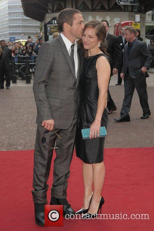 Robert Downey Jr. at the UK film premiere...