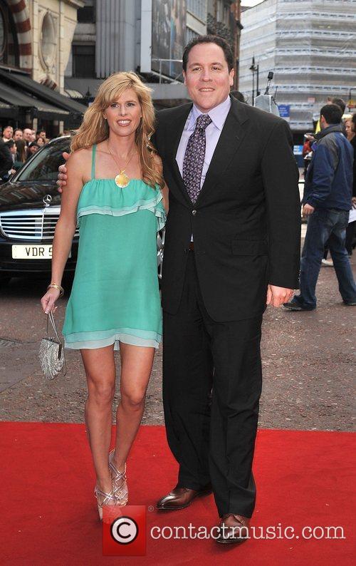 Jon Favreau and Joya Tillem UK film premiere...