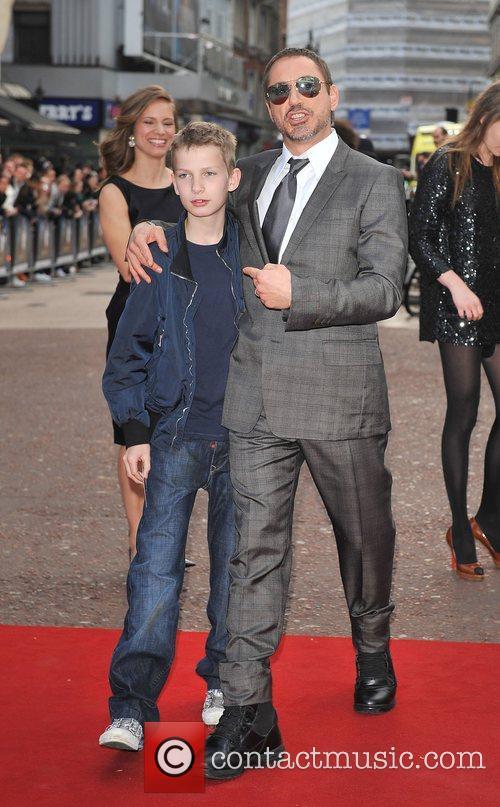 Robert Downey Jr and guest UK film premiere...