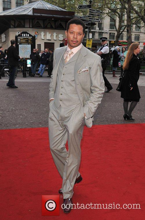 Terrence Howard UK film premiere of 'Iron Man'...