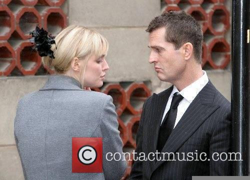 Sophie Dahl and Rupert Everett The funeral of...