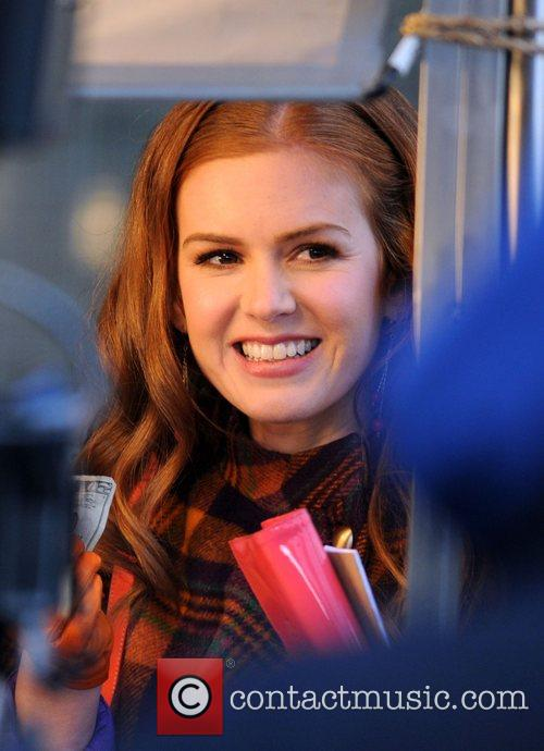 Isla Fisher on the film set for 'Confessions...