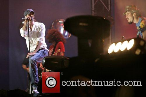 Enrique Iglesias performing at the