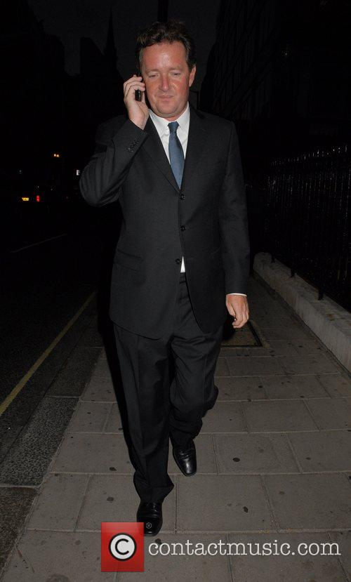 Piers Morgan leaving the 50 Years of Italian...