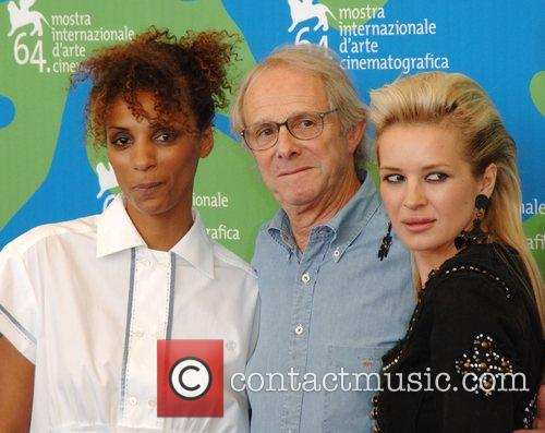 Juliet Ellis, Ken Loach and Kierston Wareing 64th...