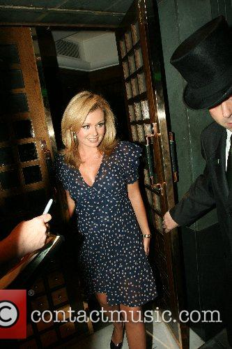 Katherine Jenkins leaving the Ivy