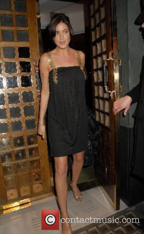 Lisa Snowdon,  leaving the Ivy London, Eng;land