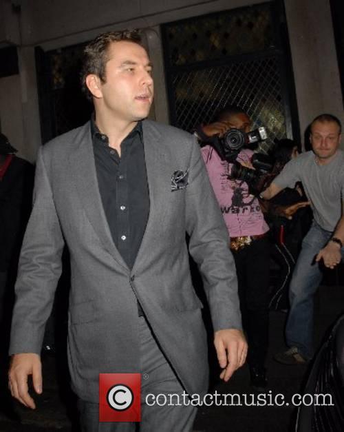 David Walliams leaving the Ivy restaurant London, England