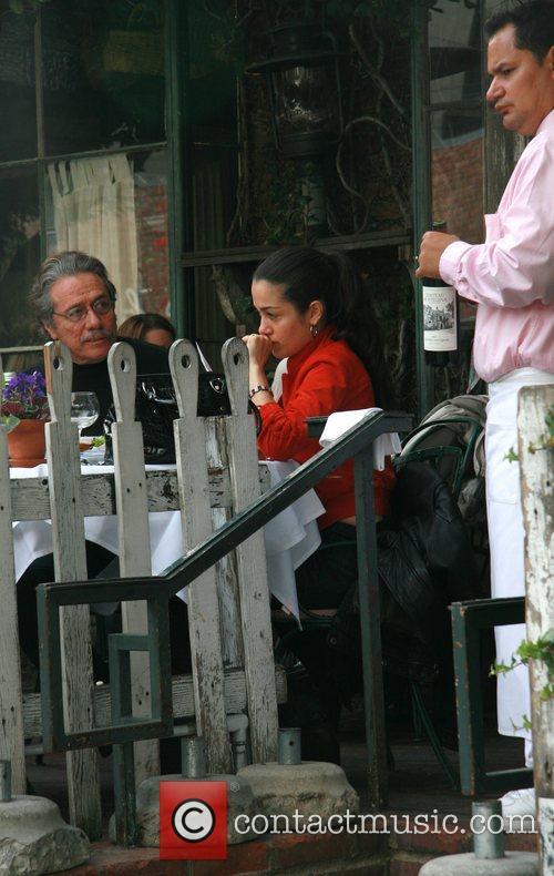 Lymari Nadal eating lunch with Edward James Olmos...