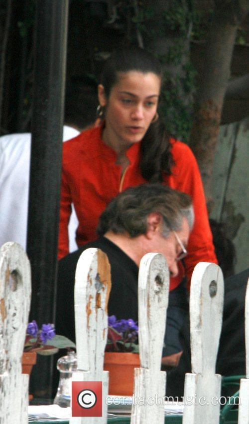 Lymari Nadal eating lunch at the Ivy restaurant