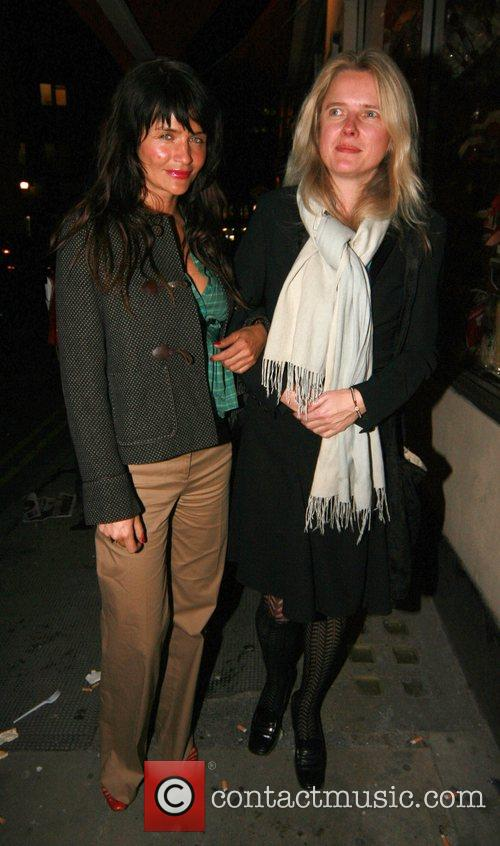 Helena Christensen and guest outside The Ivy London,...