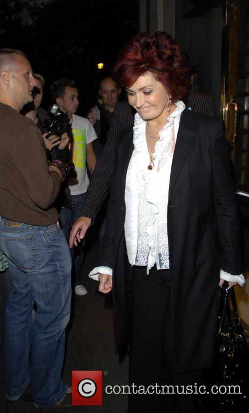 Sharon Osbourne leaving the Ivy restaurant
