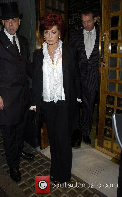 Sharon Osbourne leaving the Ivy restaurant London, England
