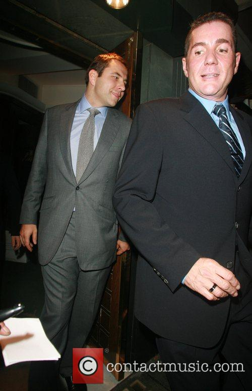 Dale Winton and David Walliams leaving the Ivy...