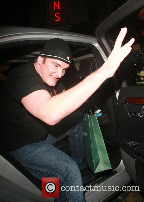 Quentin Tarantino arriving at the Ivy London, England