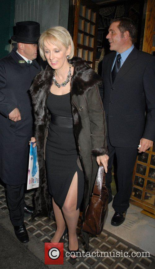 Dale Winton and Guest leaving the Ivy Restaurant...