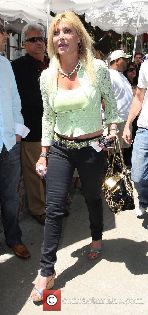 Pamela Back at the Ivy restaurant Los Angeles,...
