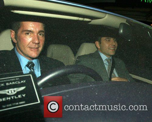 Dale Winton and David Walliams leaving the Ivy