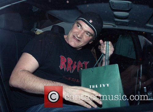 Quentin Tarantino arriving at the Ivy