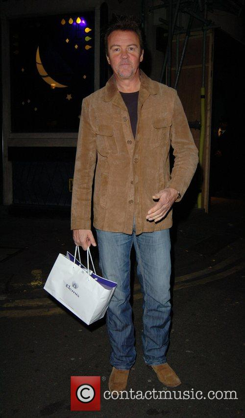 Paul Young leaving the Ivy restaurant